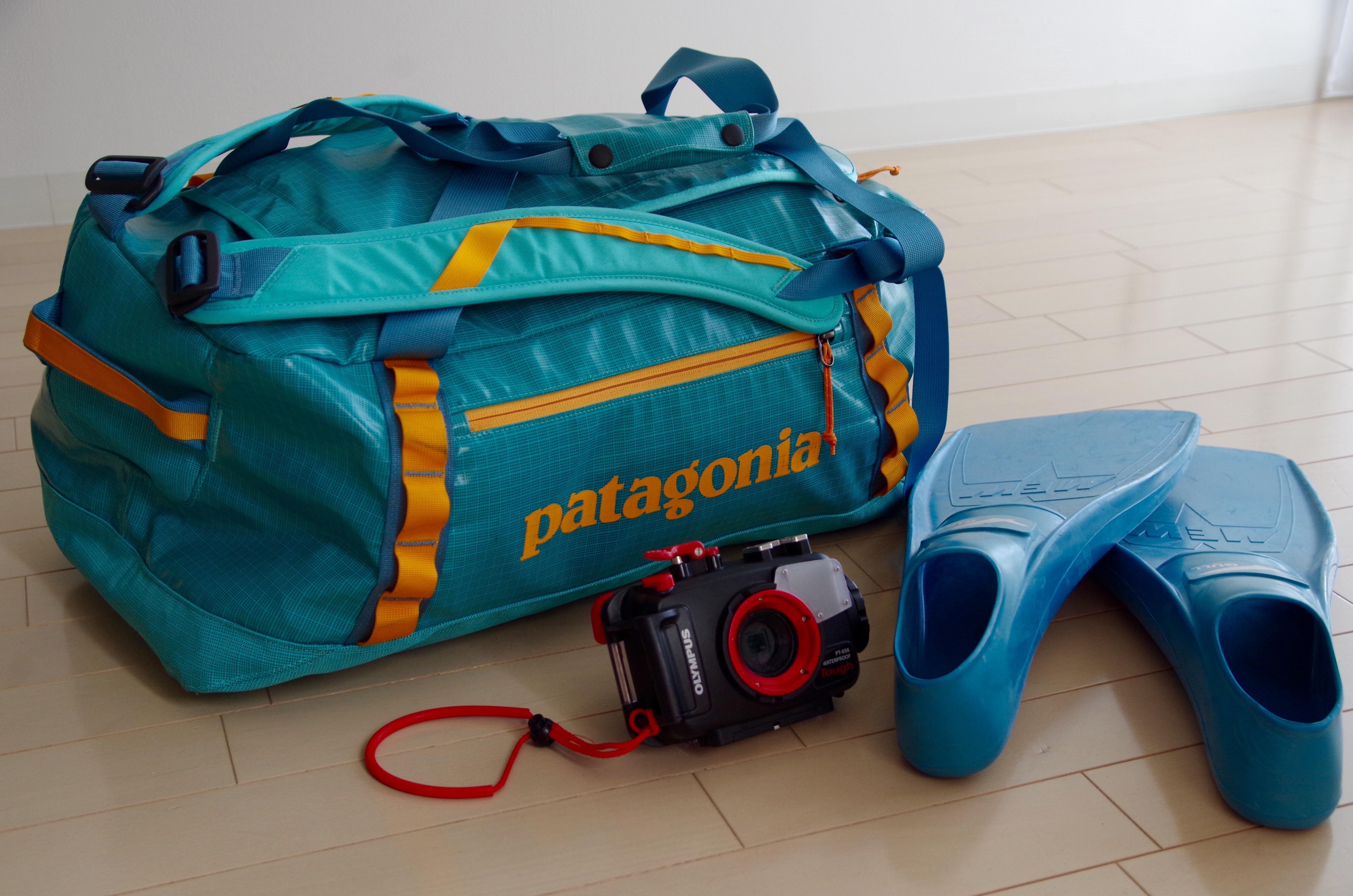 実験!普通の旅行鞄にBC・ウェットスーツは入る?